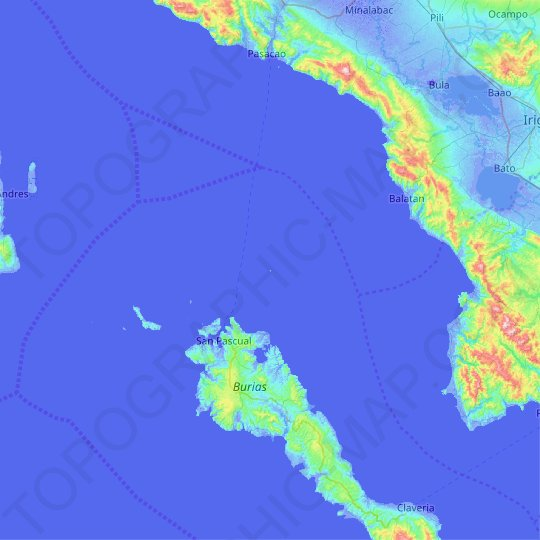 Anima Sola Island topographic map, relief map, elevations map