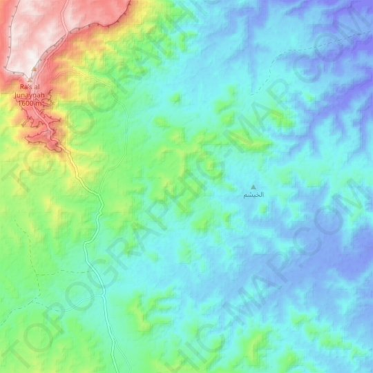 South Sinai topographic map, relief map, elevations map