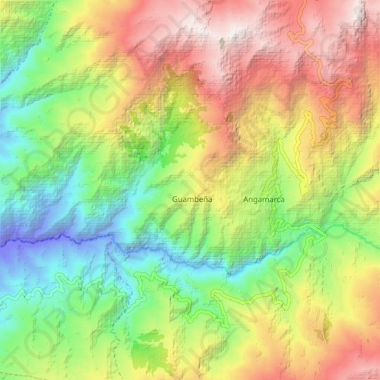 Chini topographic map, relief map, elevations map