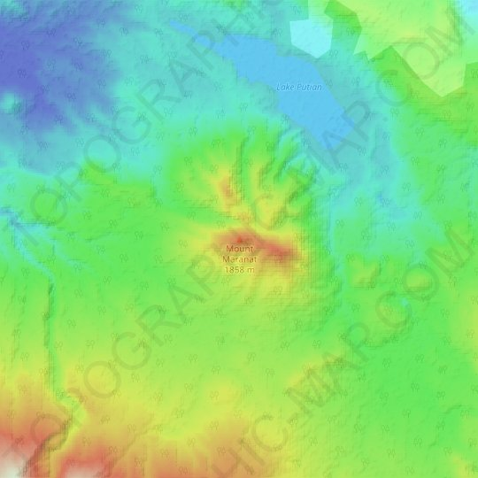 Mount Maranat topographic map, relief map, elevations map