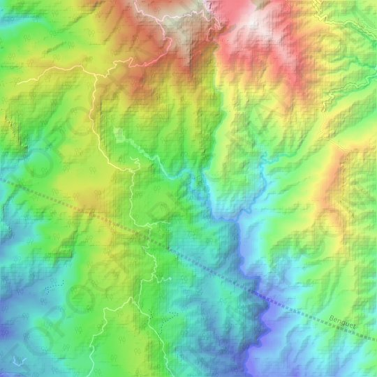 Sinocalan River topographic map, relief map, elevations map